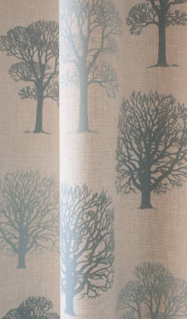 Trees Duck Egg Made to Measure Curtains