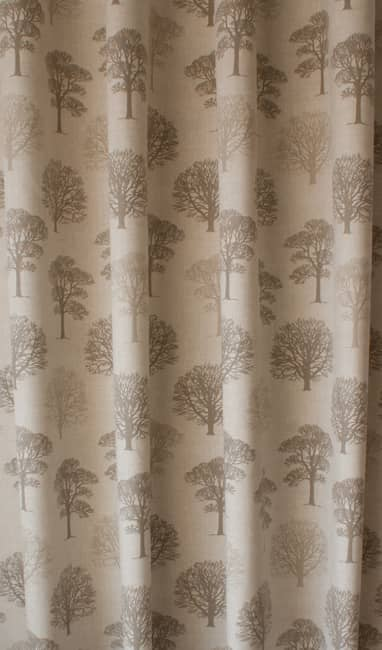 Trees Linen Roman Blinds