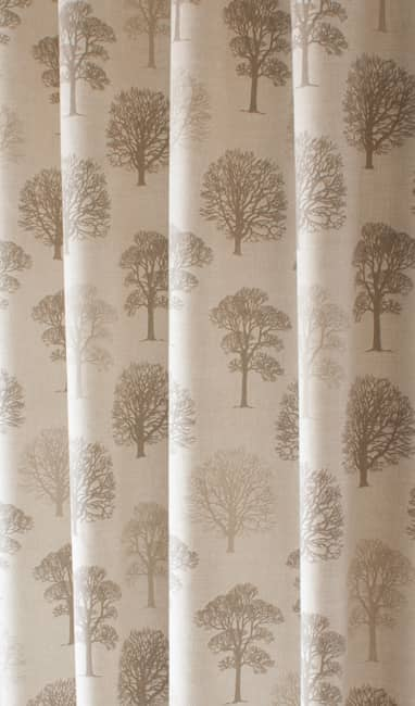 Trees Linen Curtain Fabric