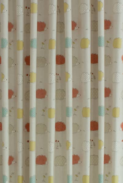 Hedgehogs Duck Egg Roman Blinds
