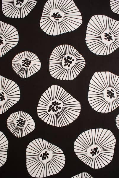 Moira Black - Curtain Fabric