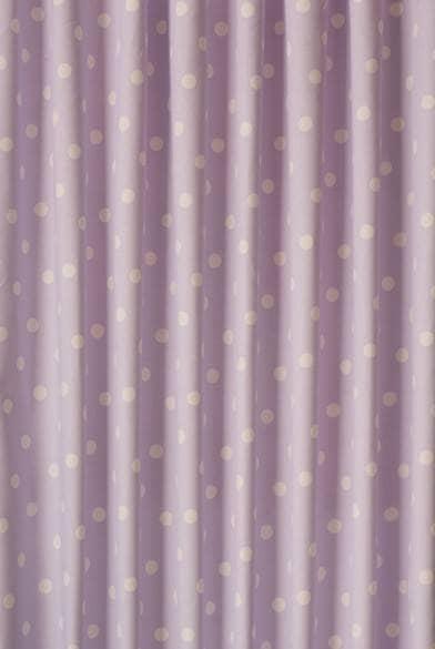 Polka Dot Lilac Curtain Fabric