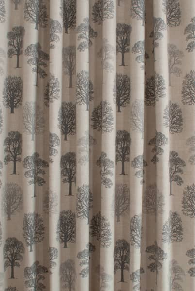 Trees Grey Made to Measure Curtains