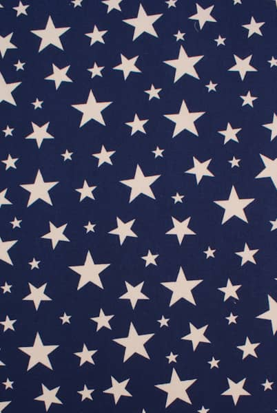 Apollo Stars Navy Blue Curtain Fabric