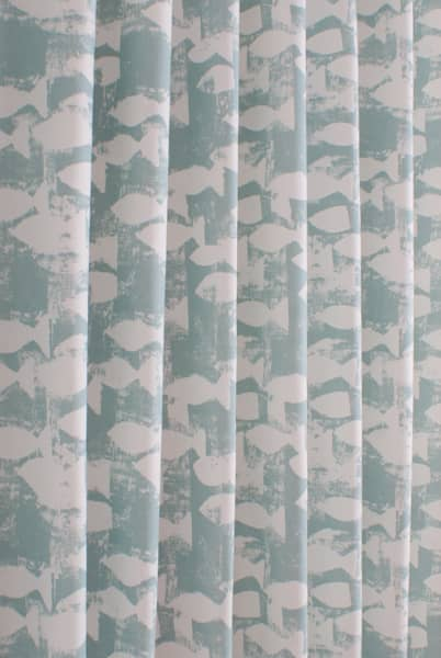 Shoal Azure Curtain Fabric