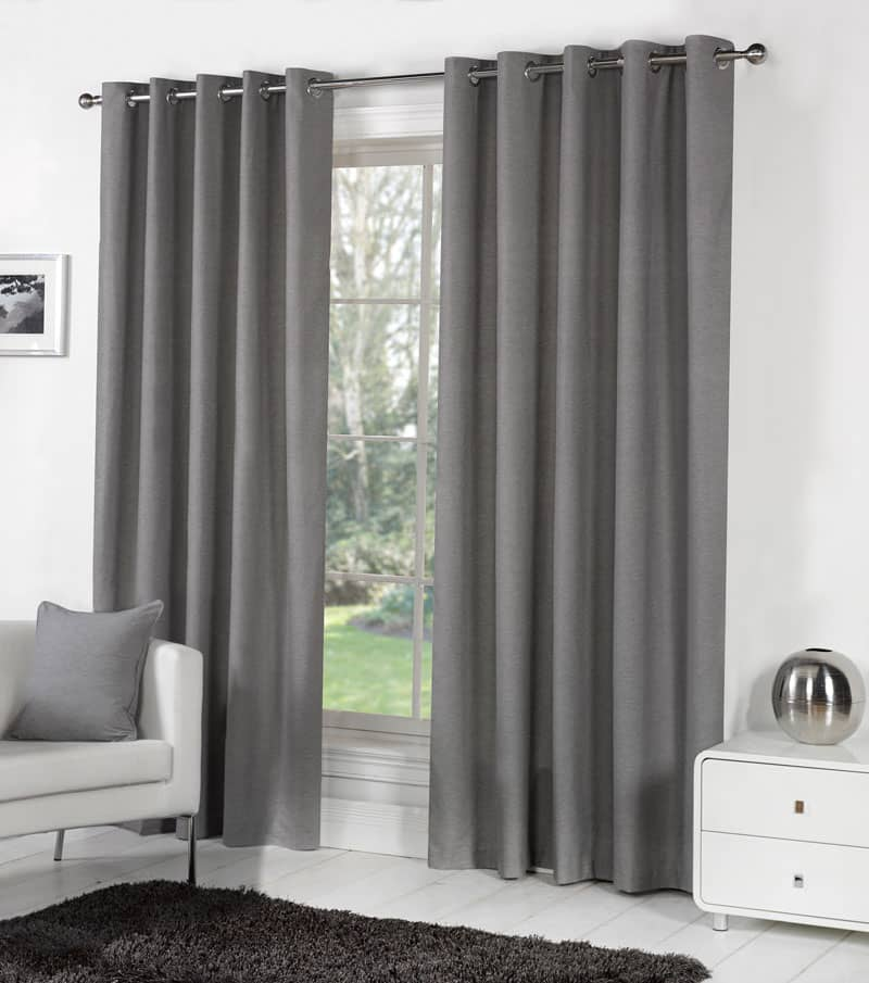 Sorbonne Charcoal Ready Made Curtains