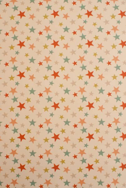Funky Star Coral Curtain Fabric