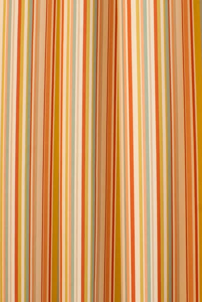 Funky Stripe Coral Curtain Fabric