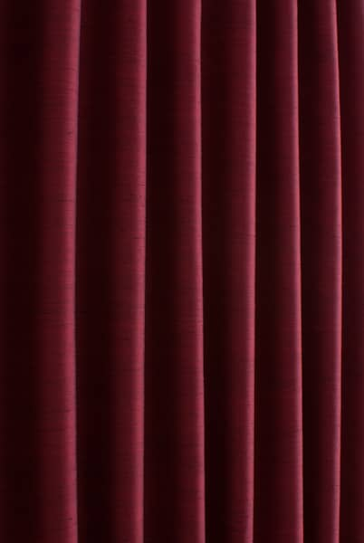 Shantung Ruby Red Roman Blinds