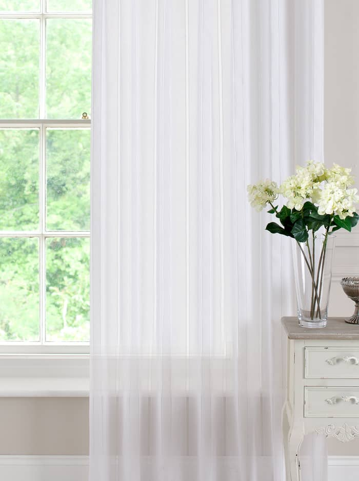 Denby White panels Voiles & Voile Panels