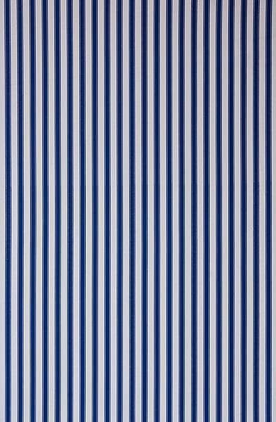 Ticking Stripe Blue Made To Measure Curtains