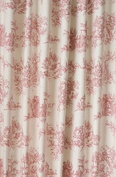 Toile Pink Made To Measure Curtains