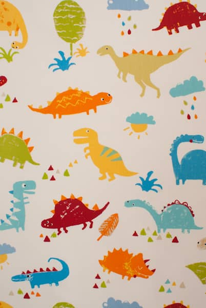 Dino Paintbox Roman Blinds