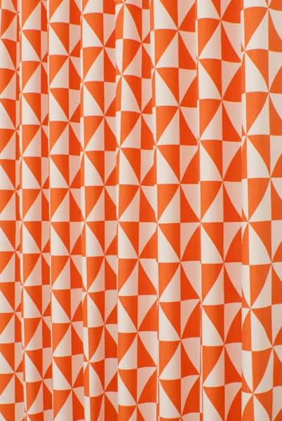 Zodiac Tangerine Curtain Fabric
