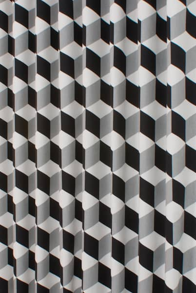 Cube Jet Curtain Fabric
