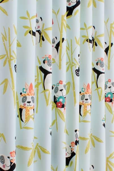 Panda Aqua Made To Measure Curtains
