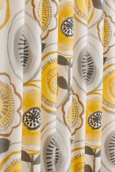 Indah Saffron Curtain Fabric