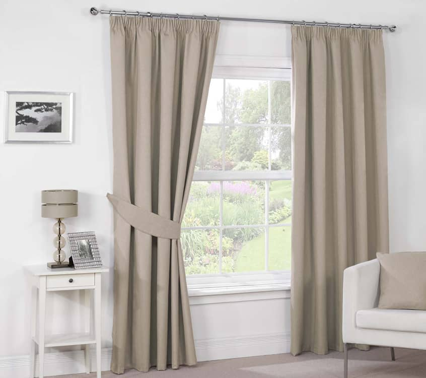 Luna Pencil Mocha Ready Made Curtains