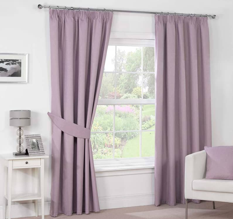 Lilac Purple Aubergine Ready Made Curtains