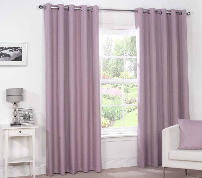 Luna Eyelet Mauve Ready Made Curtains