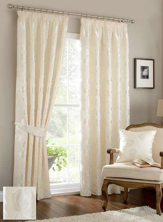 Linby Ivory Ready Made Curtains