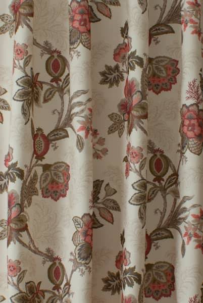 Leathan Cranberry Roman Blinds