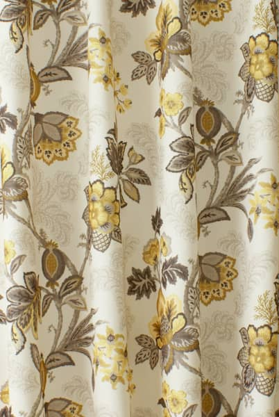 Leathan Buttercup Curtain Fabric