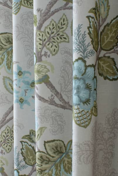 Leathan Aqua Curtain Fabric