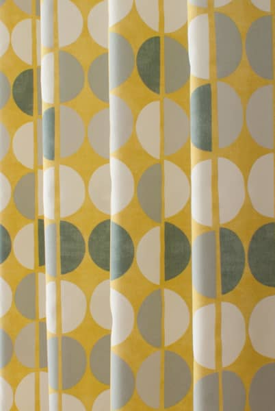 Shoreditch Saffron Curtain Fabric