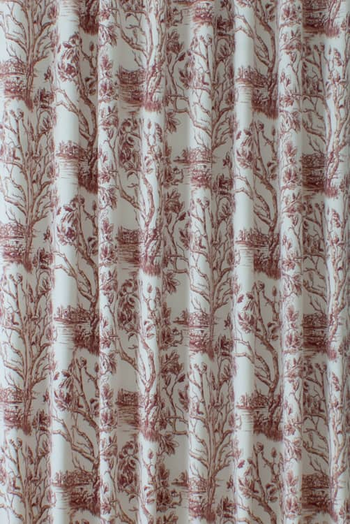 Bologna Burgundy - Curtain Fabric