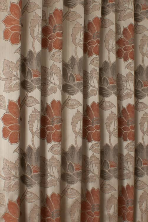 Lorton Terracotta Curtain Fabric