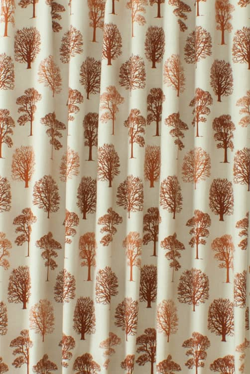 Trees Terracotta Made to Measure Curtains