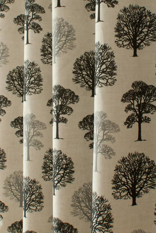 Trees Black Made to Measure Curtains