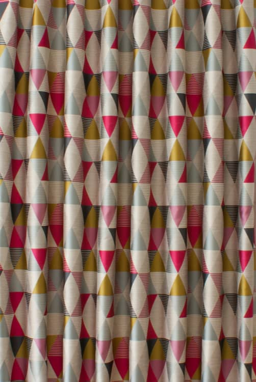 Belize Pink Curtain Fabric