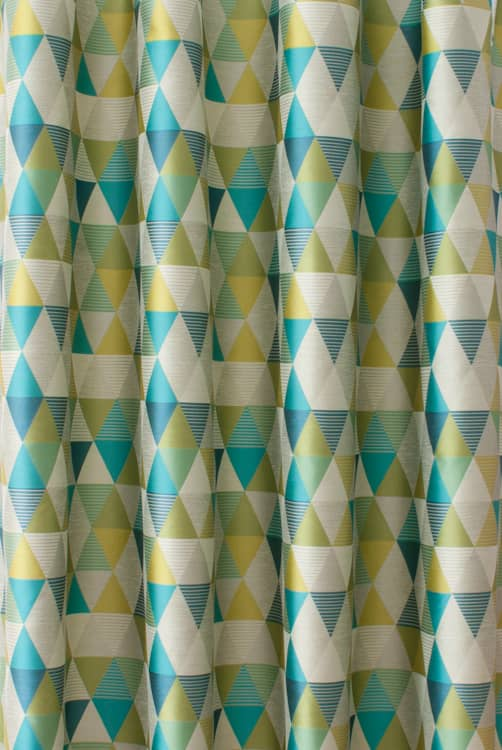 Belize Teal Lime - Curtain Fabric