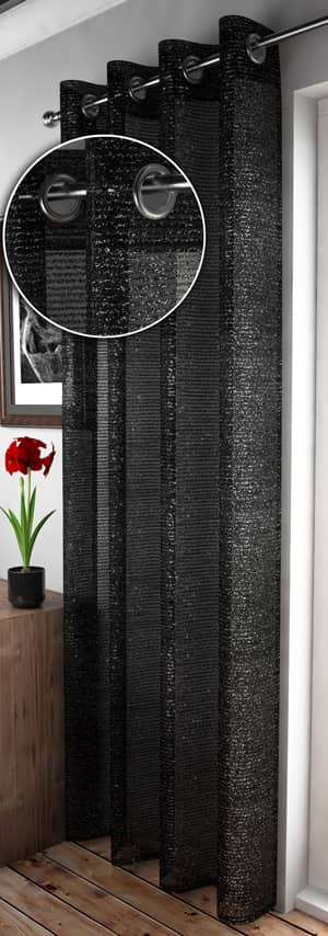 Adele Black Voiles & Voile Panels