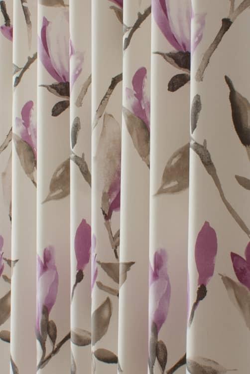Magnolia Cerise Mauve Curtain Fabric