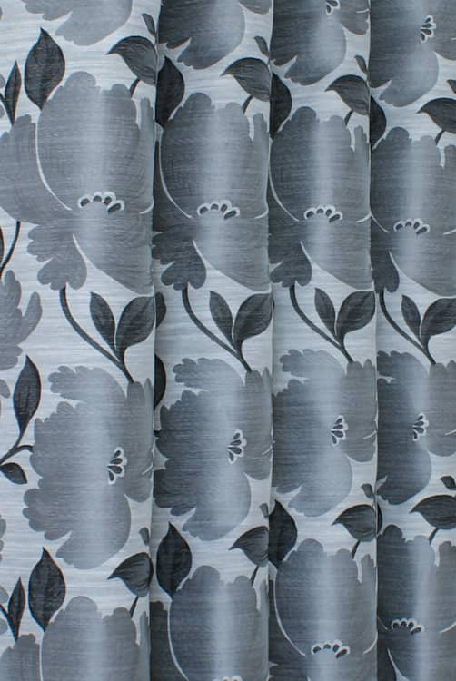 Capri Silver Curtain Fabric