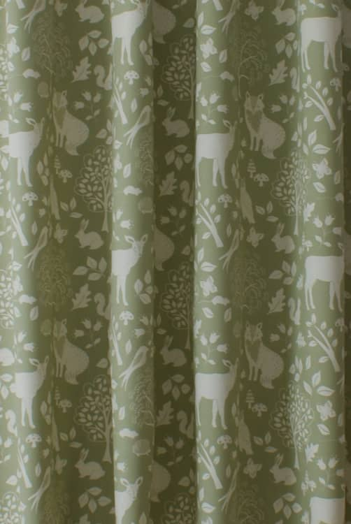 Woodland Green Made to Measure Curtains