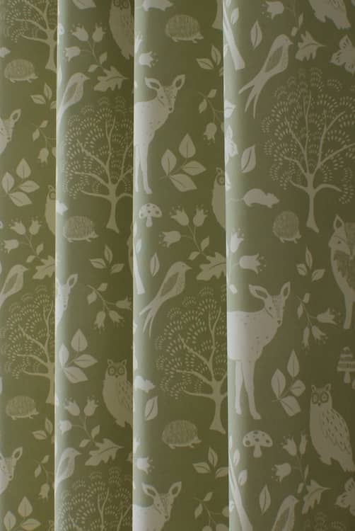 Woodland Green Curtain Fabric