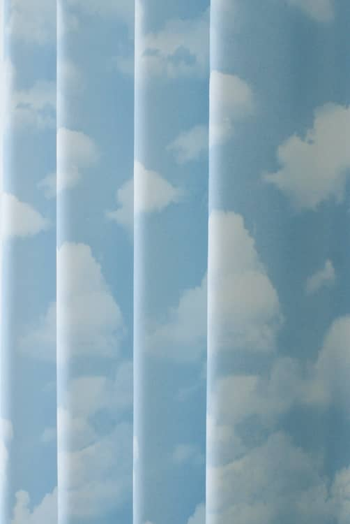 Sky Blue Curtain Fabric