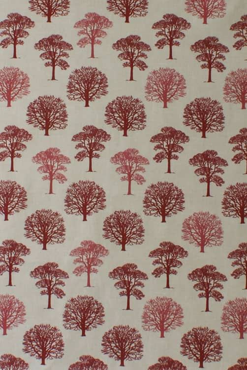 Trees Red Made to Measure Curtains