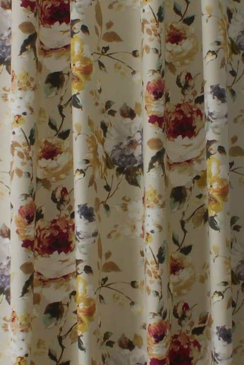 Langford Apricot Curtain Fabric