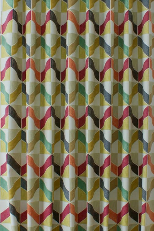Holbeck Apricot Curtain Fabric