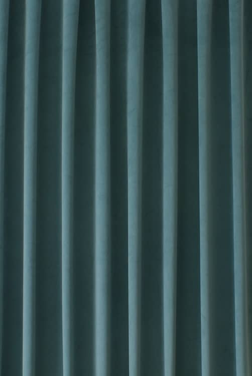 Alaska Velvet Aqua Curtain Fabric