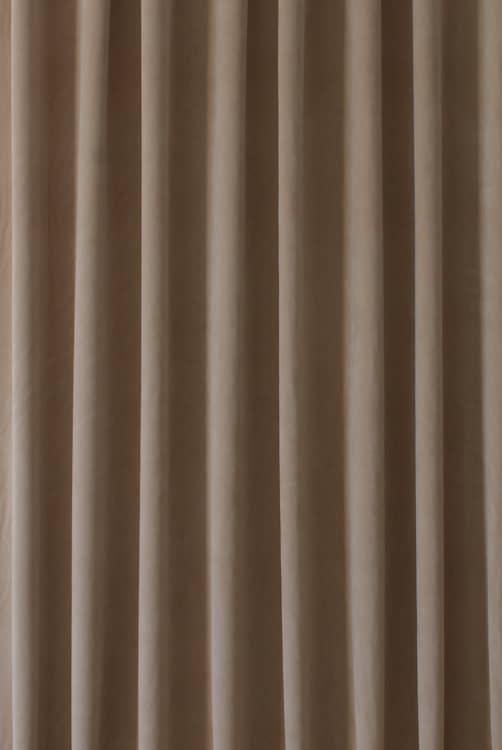 Alaska velvet latte curtain fabric for Velvet material for curtains