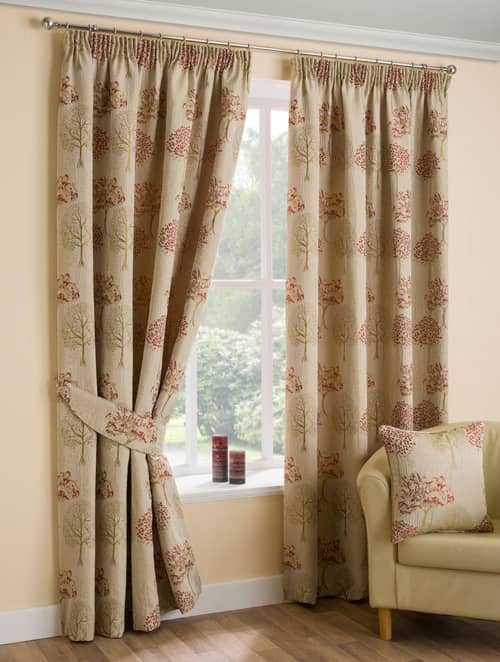 Arden Chintz Ready Made Curtains