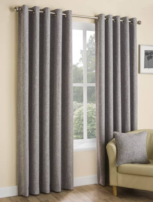 Huxley Silver Ready Made Curtains