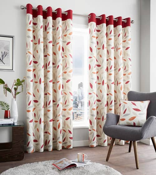 Beechwood Red Ready Made Curtains