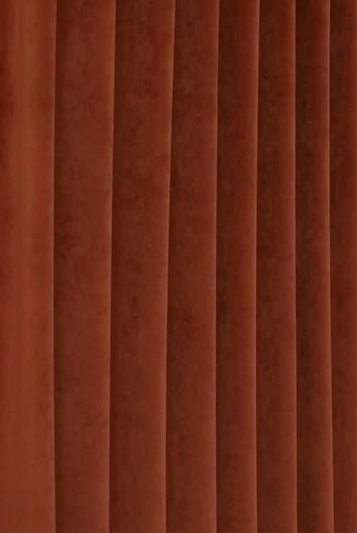 Alaska Velvet Rust Curtain Fabric